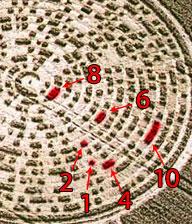 Perticolare del cerchio contenente il messaggio